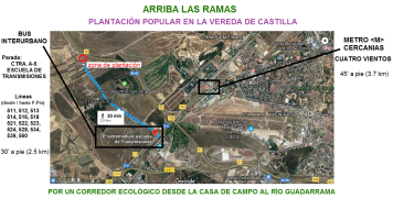 mapa general plantación vereda de castilla